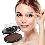 Image of Turelifes Waterproof Eye Brow Stamp Powder Perfect Eyebrow Power Seal Nature Eye Brow Powder Delicate Shape (Dark brown)