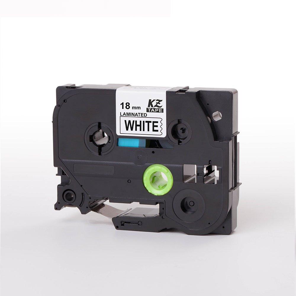 Gulin Nastro adesivo a stampa da 12 mm x 8 m Resiste allabrasione di grasso dellacqua che sbiadisce Compatibile con Brother P-touch Tze641