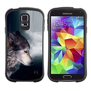 Paccase / Suave TPU GEL Caso Carcasa de Protección Funda para - Wolf Waterfull Indian Wild Animal Forest - Samsung Galaxy S5 SM-G900