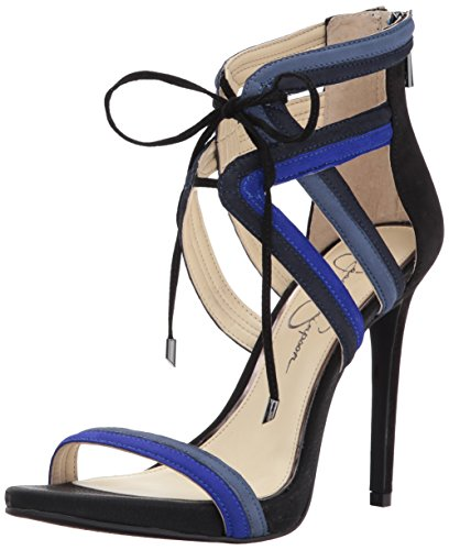 Jessica Simpson Women's Rensa Heeled Sandal, Blue Violet, 8.5 Medium US (Womens Sandal Blue Jessica Simpson)