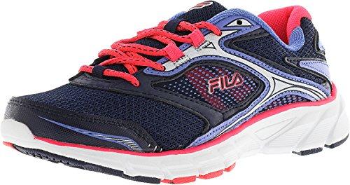 Fila Women's Stir up Navy/Diva Pink Wedgewood Ankle-High Running Shoe - 8M