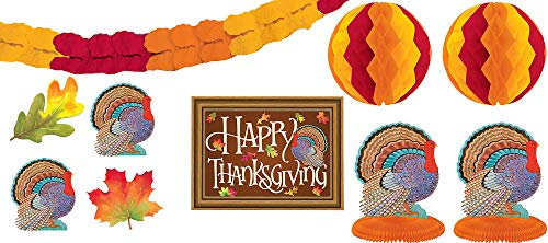 Thanksgiving Ochre Paper Decorating Kit | Party Decoration