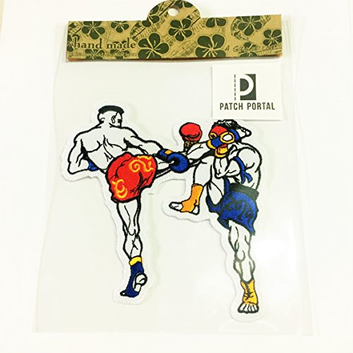 5 Inch Boxing Sew Iron On Embroidered Patch Muay Thai Kick Boxer DIY Appliques Patch-Boxer Sports MMA For Mens Tshirt Jackets Cloth Jeans Vests Shorts by Patch Portal