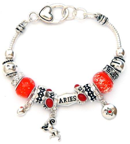 Landau Ambrosia Aries Zodiac Charm Bracelet, Silvertone by Landau