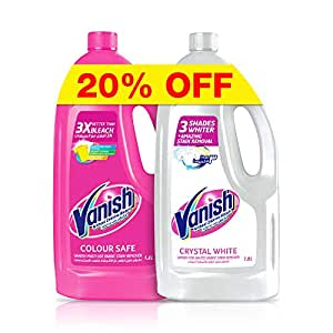 Vanish Stain Remover Liquid for Colors and Whites, 1.8 Litre (Pack of 2)