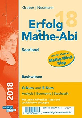 Erfolg im Mathe-Abi 2018 Basiswissen Saarland: mit der Original Mathe-Mind-Map