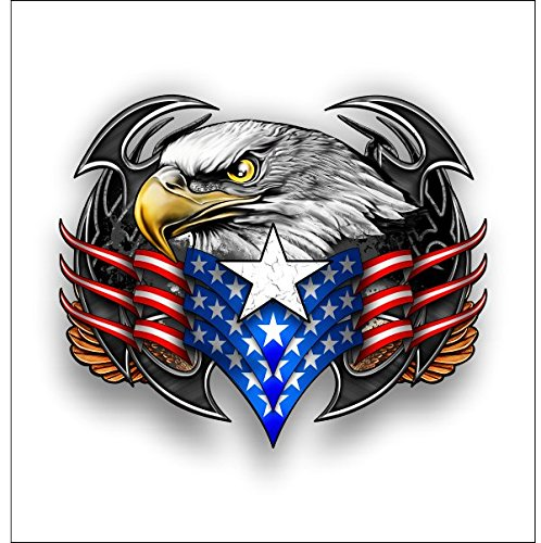 American Tribal eagle sticker Shipping