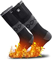 Heated Socks for Men Women,7.4V 2200mah Electric Rechargeable Battery Warm Winter Socks,Cold Weather Thermal H