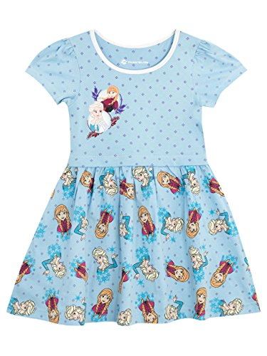 Disney Girls' Frozen Dress Size 6 Blue ()