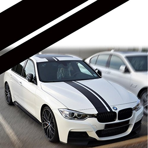 - Xotic Tech Right Side JDM Vinyl Decal Sporty Racing Stripe Sticker for BMW 3 Series F30 F31 Hood Roof Rear Trunk Bumper Decor Black