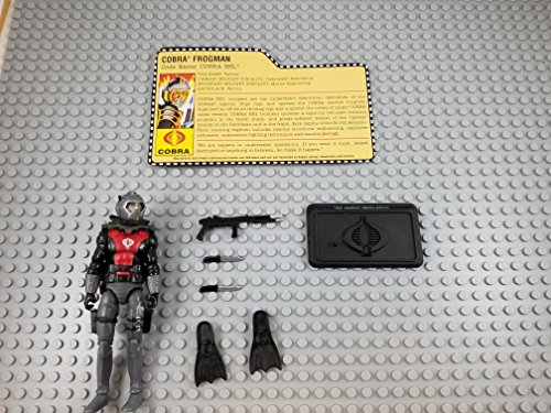 Corbra Frogman EEL (with Stand, Card, & Accessories) - Hasbro Action Figure - Doll Toy G I Joe Cobra - Loose Out of Package & Print (OOP) (Cobra Eel)