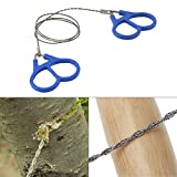 Camping & Hiking Tool - Ipree Camping Wire Saw Stainless Steel Travel Garden Branch Fretsaw Emergency Survival Gear - Camping Wire Saw Stainless Steel Rope Cable Mini Bone Survival - 1PCs