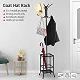 Yaheetech Coat Rack with Umbrella Stand, Entryway Coat Rack Hat Hanger Hooks Hall Tree Stand for Home or Office