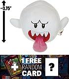 "Boo: ~3.75"" Super Mario Bros Mini-Plush + 1 FREE Official Super Mario Bros Fun Card Bundle"