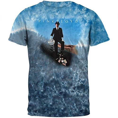 Dye Tie Wall Shirt - Pink Floyd - Mens Record Man Tie Dye T-Shirt X-large Blue