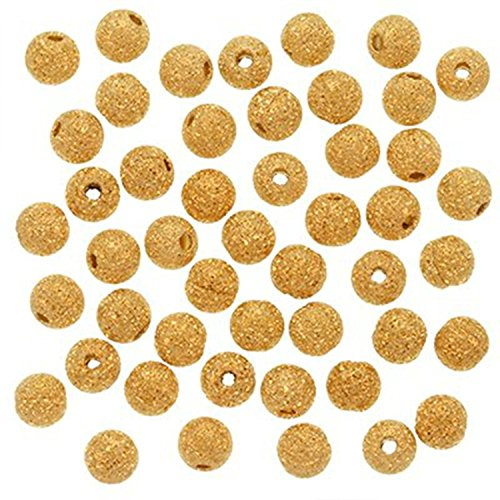 100pcs x Silver Plated 4mm Round Sparkle Ball Beads