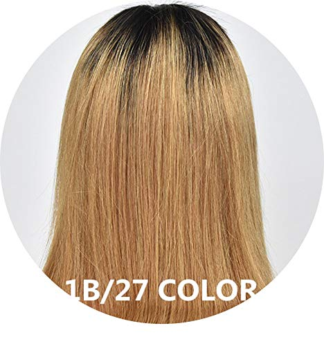 1B/27 Ombre Wigs Glueless Lace Front Short Bob Wigs Silky Straight Peruvian Human Remy Hair Wigs For Women 13x4 Lace Baby Hair,T1B/27,12inches,130%