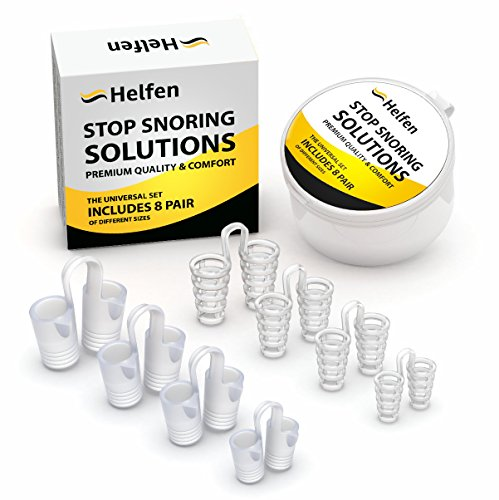 Anti Snoring Devices - Snoring Solution - Snore Stopper Set - Anti Snoring Solutions - 8 Anti Snoring Nose Vents - Anti Snoring Device- Snoring Stopper Nasal Dilators (Clear) by Helfen (Image #7)