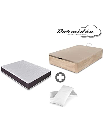 Dormidán - Pack de canapé abatible de Gran Capacidad + colchón viscoelástico + Almohada visco Copos