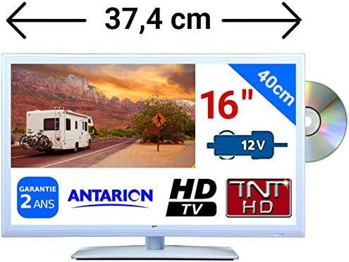 Compuesto DVD TV Color Blanco para Camping Car Camión 16
