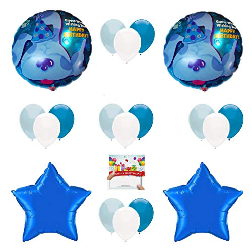 Combined Brands Blue's Clues Birthday Party Supplies Balloon Decoration Bundle]()