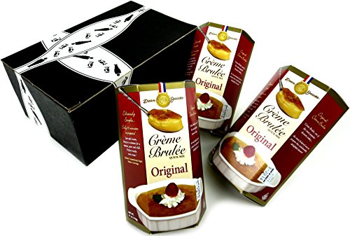 Dean Jacob's Crème Brulée Quick Mix, 4.1 oz Boxes in a BlackTie Box (Pack of 3) ()