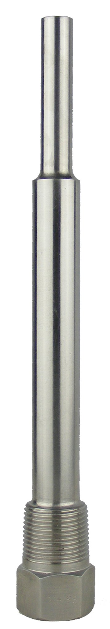 REOTEMP ST9316 316 Stainless Steel Threaded Thermowell, 9'' Stem Length, For Bimetal Thermometer
