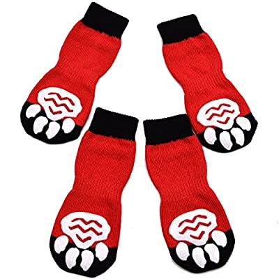 EXPAWLORER Anti-Slip Dog Socks Traction Control for Indoor Wear, Paw Protection from HAOBO