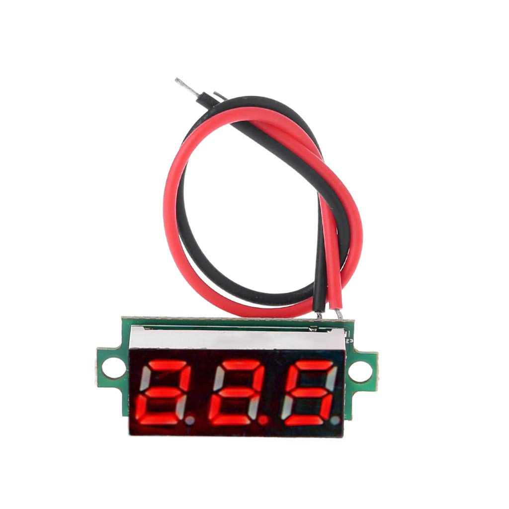 """mgjyjy Thermometer, 2019 New 0.28"""" LED Display Digital Thermometer Module for DS18B20 Temperature Sensor RED"""