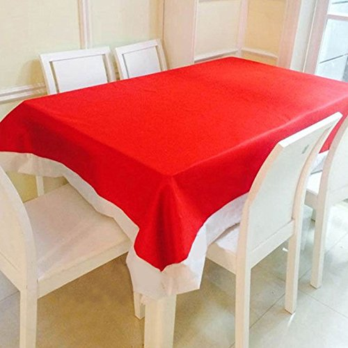 ADCorner Christmas Tablecloth Non-Woven Fabric Suitable Decor for Home Restaurant Hotel Cafe Entertainment Place 130x180 cm /51x70.8 inch (1pc)