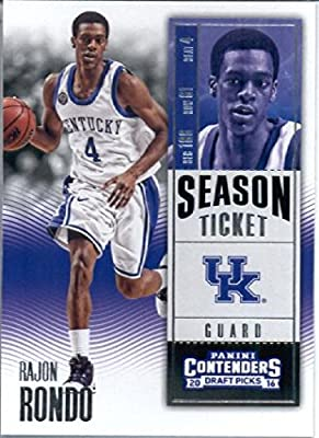 2016-17 Panini Contenders Draft Picks #79 Rajon Rondo Kentucky Wildcats Basketball Card in Protective Screwdown Display Case