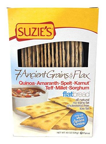 Suzie's 7 Ancient Grain Flatbreads 4.5 oz (Pack of 6) by Suzie's