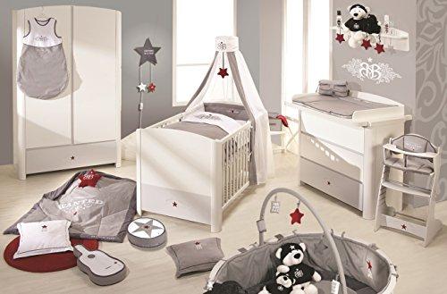Babyzimmer komplett ikea  Roba 38101 - RSB Kinderzimmer Komplett-Set mit 3-türigem Schrank ...