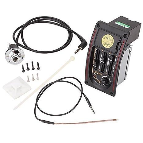 DN OPUS-III 3 Bandas guitarra acústica preamplificación EQ Tuner Piezo: Amazon.es: Instrumentos musicales