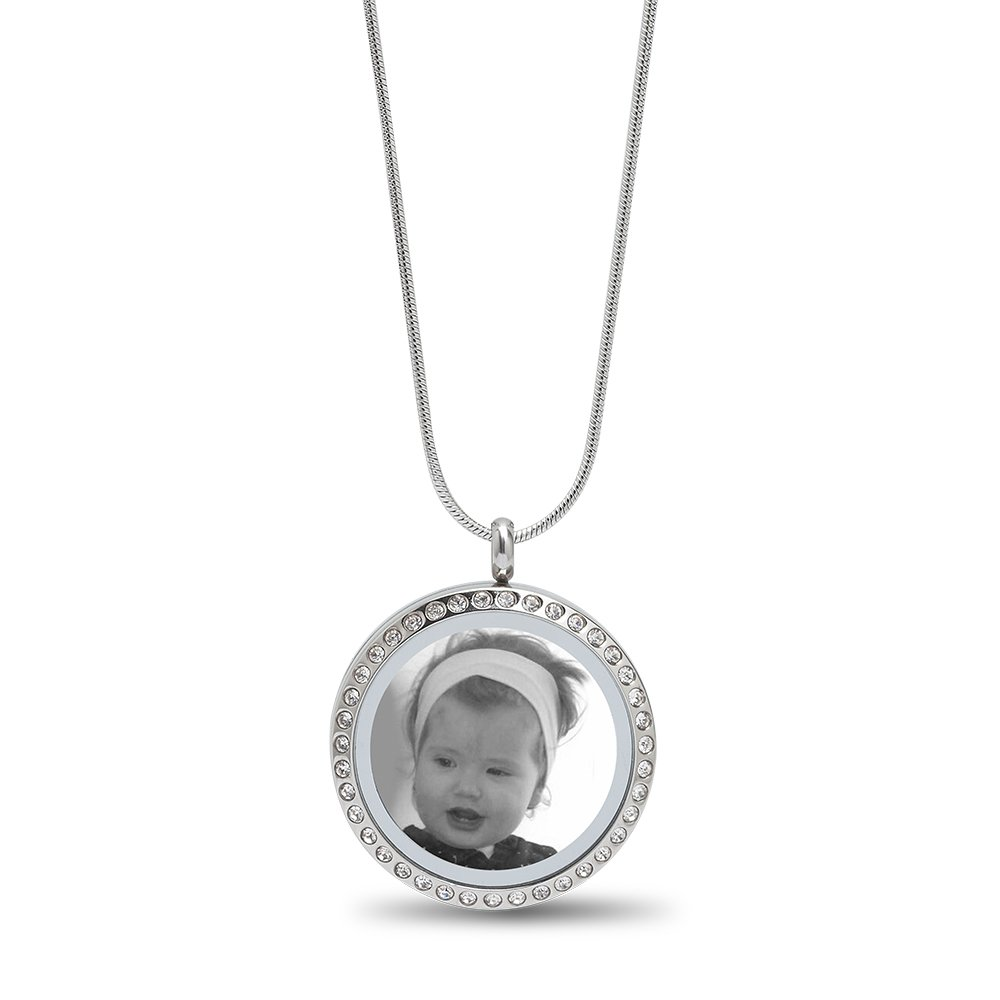 Foto Anhänger öffnen Kette silber AUSWAHL PUSTEBLUME Medaillon Halskette +
