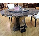 Superbe Round Marble Dining Table With Lazy Susan T 6312 (Table Only)