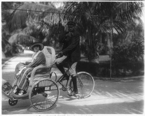 Photo: Billie Burke,Gloria's Romance,1916,Bicycle sedan chair