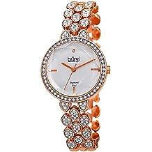 Burgi Designer Women's Watch – Swarovski Crystal Studded Case and Strap with Diamond Marker – Rose Gold Tone Stainless Steel Bracelet - BUR232RG