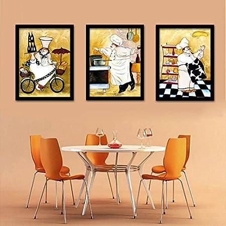 Fotos * la caja es una pintura decorativa pared pared de foto pared, 33 * 43 cm (16 pulgadas), marco de madera blancas, ABC 3 piezas: Amazon.es: Hogar