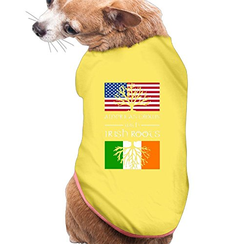 BESINEAWSfAW American Grown With Irish Roots Dog&Cat Shirts Tank Top Vest Pet Clothing For Dogs Or Cats Costume (Custom Dalmation Costumes)