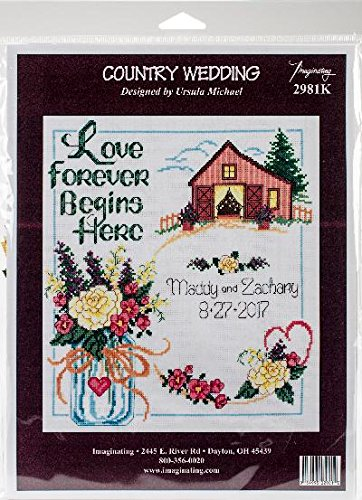 Country Wedding Counted Cross Stitch -