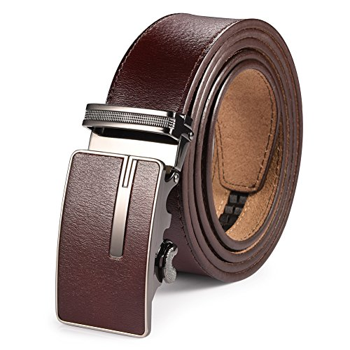 Classic Embossed Belt (Vbiger Fashionable Embossed Genuine Leather Belt with Automatic Buckle (one size,)