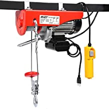 880lbs Mini Electric Wire Hoist Remote Control Garage Auto Shop Overhead Lift - By Choice Products