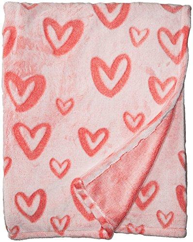 Throw Blanket, Hearts Pink (Ladies Throw)