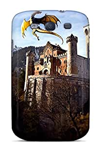 Protective Tpu Case With Fashion Design For Galaxy S3 (dragon And Castle)