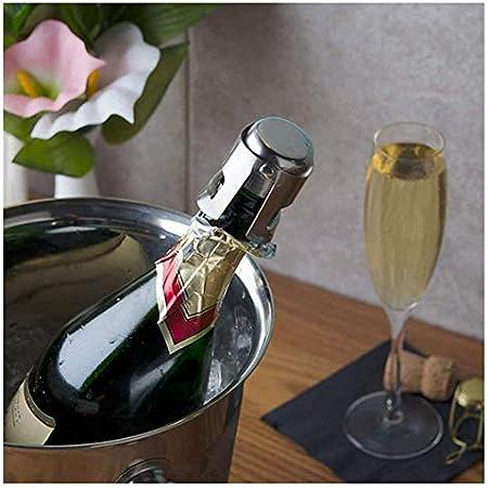 YFOX 3 Piezas Tapas de Botellas de champán Tapas de Botellas de Vino espumoso Tapas de Sellado al vacío de Acero Inoxidable 3.5x3.5x5.5cm