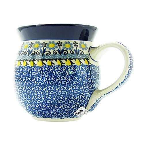 Polish Pottery 16 Ounce Bubble Handmade Mug From Boleslawiec Poland Ceramika Artystyczna Traditional Series Stoneware Pattern 073-2004