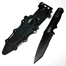Outdoor Airsoft Wargame AEG Shooting Gear CYMA 141 Nimravus Tanto Rubber Plastic Dummy Model Kit Blade Knife with Sheath Black