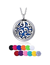 HooAMI Sky Clouds Aromatherapy Essential Oil Diffuser Necklace Pendant Locket Jewelry