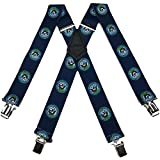 SUS-351-NANA - Navy Novelty Themed Clip X-BACK Suspenders